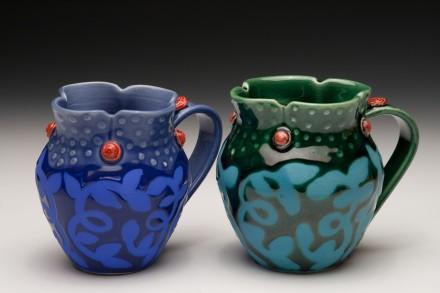 Sweet Rosette Mugs