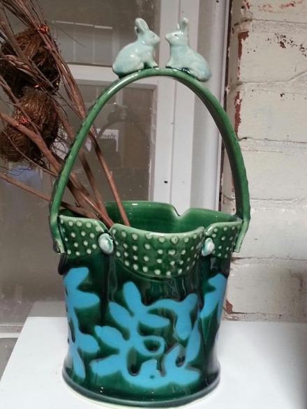 Bunny Bucket Vase