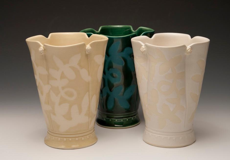 open vases